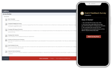Enable employees to provide feedback anytime, anywhere from our mobile-first platform