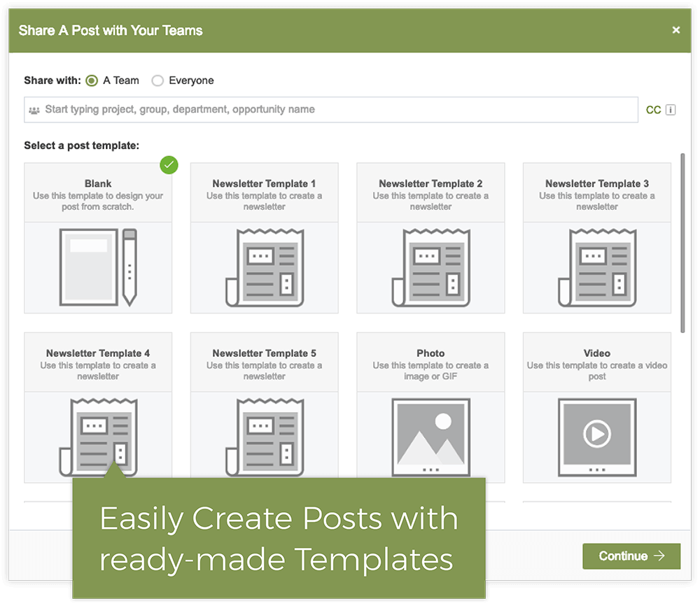 Ready-To-Use Post Templates