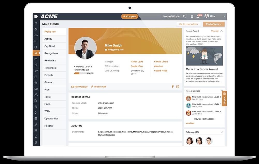Descriptive Profile Pages
