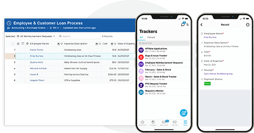Modern forms and trackers